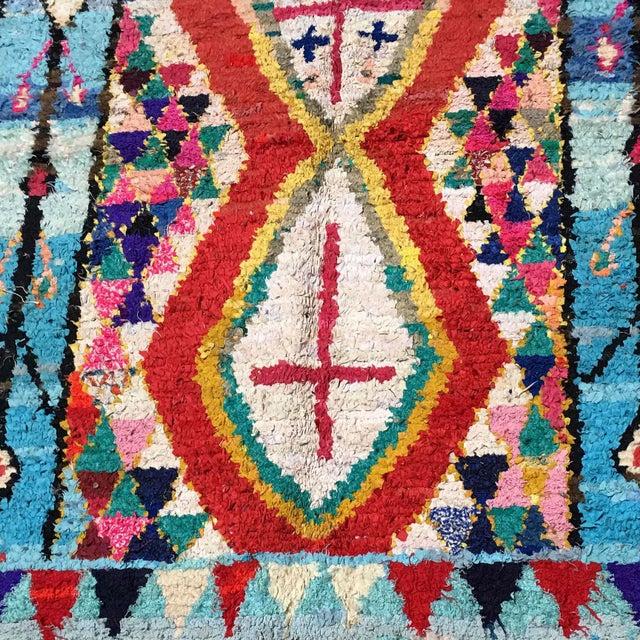 Cross Moroccan Boucherouite Rug - 4′7″ × 6′4″