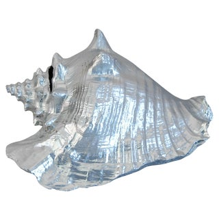 Large Silver Gilt Conch Seashell