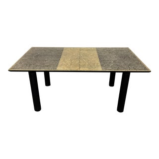 1980s Vintage Italian Post Modern Burl Dining Table