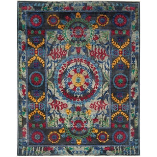 """Suzani Hand Knotted Area Rug - 8' X 9' 10"""""""