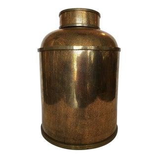 Vintage Metallic Ceramic Container