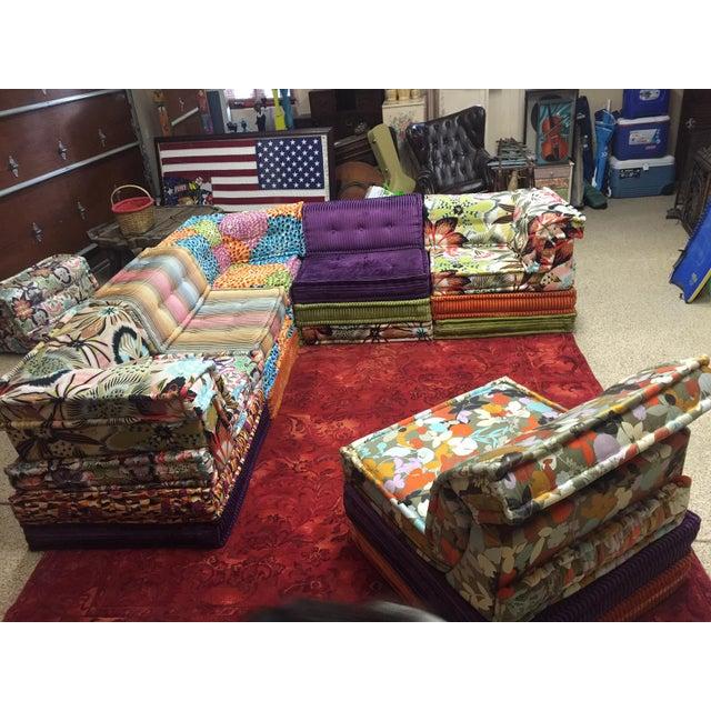 Missoni Home Gravita Oman Leather: Hans Hopfer Roche Bobois Missoni Mah Jong Sectional