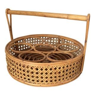 Vintage Boho Rattan Drink Tray