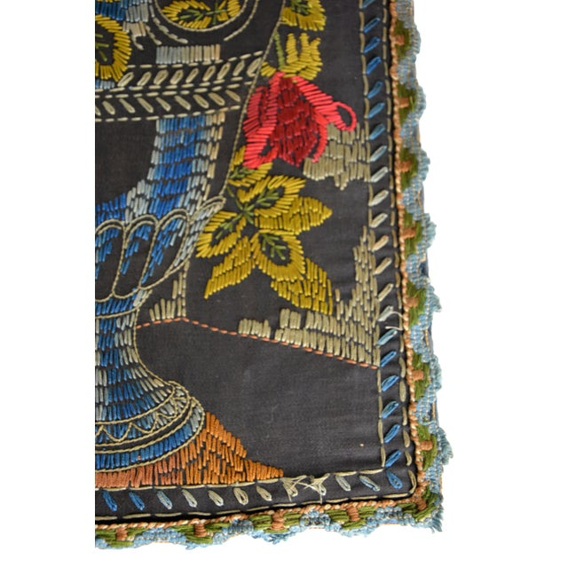 Antique Embroidered Tapestry - Image 2 of 3