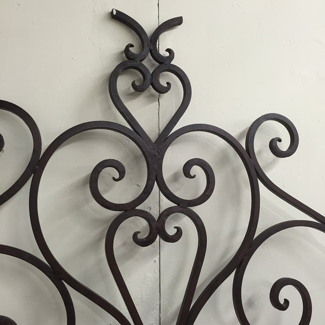 Image of Brutalist Wrought Iron King Headboard