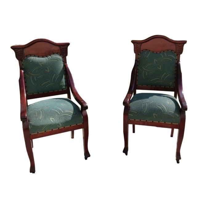 Foyer Armchair : Victorian foyer chairs a pair chairish