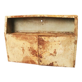 Vintage Industrial Metal Hanging Wall Cabinet