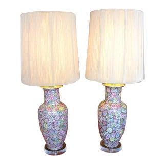 Pair of Cloisonné Lamps