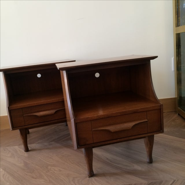 Mid-Century Stepped Side Tables - A Pair - Image 5 of 9
