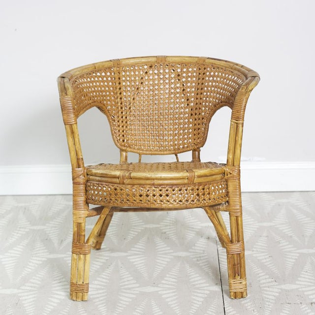 Rattan Cane Arm Chairs - A Pair - Image 4 of 5
