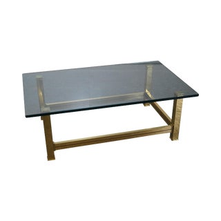Mastercraft Brushed Brass & Glass Coffee Table