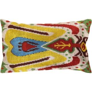 "Silk Velvet Ikat Pillows 16"" X 24"""