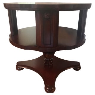 Antique Round Bookcase Side Table