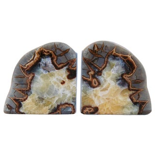 Dragonstone Geode Bookends- A Pair
