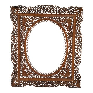 Antique Anglo Indian Carved Wood Frame