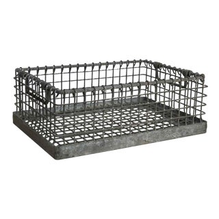 Heavy Industrial Galvanized Metal Basket