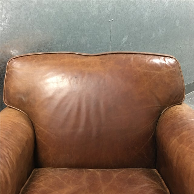Restoration Hardware Chair & Ottoman - Image 5 of 11