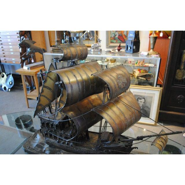 Chet blacketer black iron ship sculpture chairish