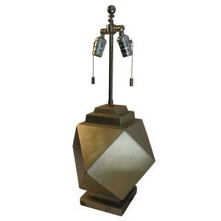 Sirmos Silver Geometric Lamp
