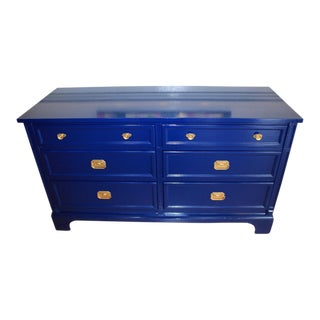 Drexel Heritage Lacquered Navy Blue Dresser