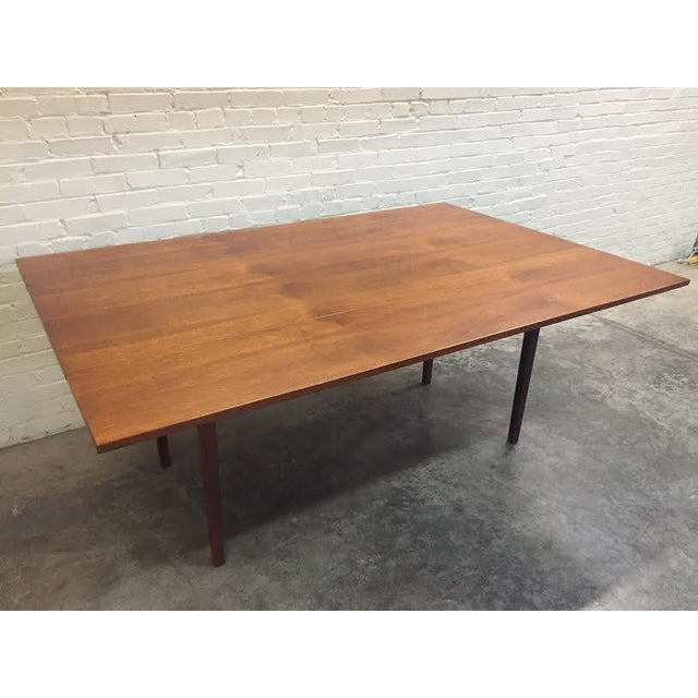 Walnut Mid-Century Danish Modern Dining Table - Image 5 of 7