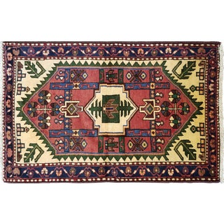 "Traditional Vintage Persian Rug - 2'3"" X 3'6"""