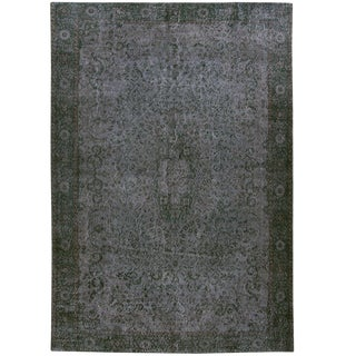 Blue-Grey Overdye Carpet -- 6'9 x 10'2