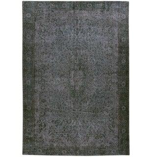 Blue-Grey Overdye Carpet | 6'9 x 10'2 Rug