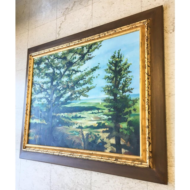 Modern Acrylic Framed Landscape Painting by John-Richards - Image 3 of 6