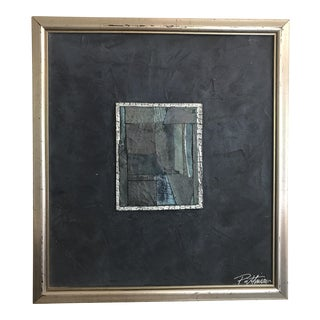 Silver Framed Collage Painting