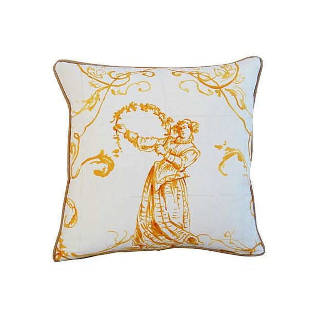 Custom French Pierre Frey Sintra Pillow - Image 2 of 4