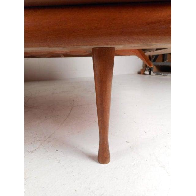 Mid-Century Modern Walnut and Cane Sofa - Image 6 of 7