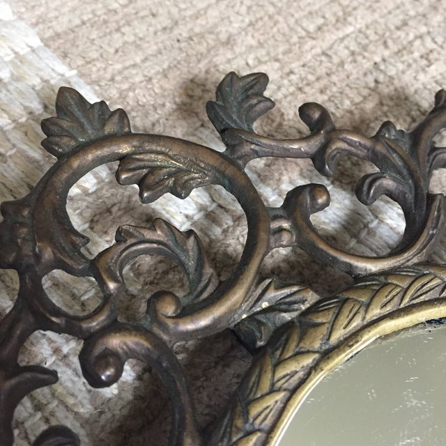 Silvestri Brass Table Mirror - Image 4 of 10