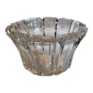 Orrefors Angular-Edged Crystal Bowl