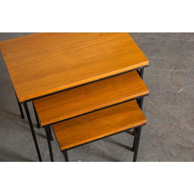 Teak Nesting Side Tables - Set of 3 - Image 6 of 9