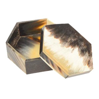 Hexagonal Horn Trinket Box