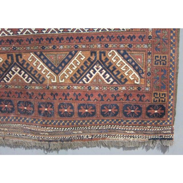 """Vintage Sarreid LTD Tribal Rug - 5' x 6'11"""" - Image 5 of 6"""
