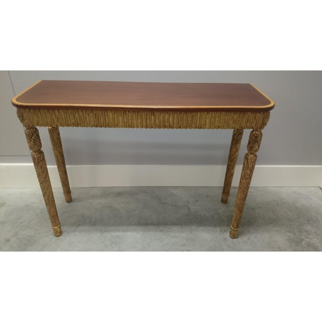 Image of Therien Studio George III Gold Leaf and Mahogany Console