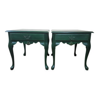 Queen Anne Accent Side Tables - A Pair