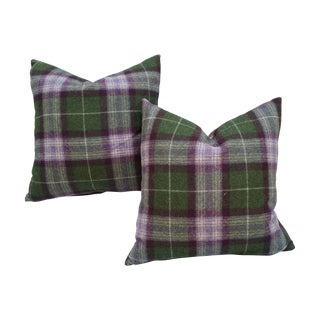 Scottish Plaid Pillows - Pair