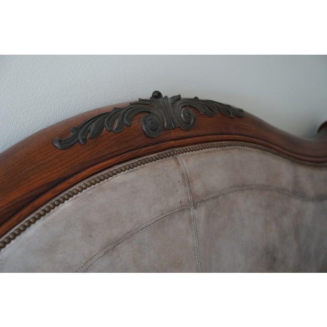 Henredon California King Sleigh Bed Frame - Image 6 of 10