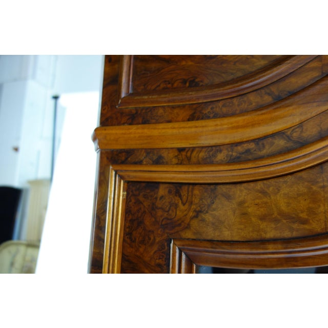 Traditional Glass Front Cabinet with Burl Veneers - Image 3 of 7