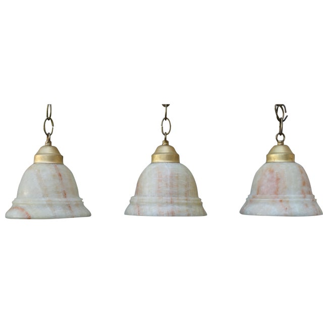 Image of Alabaster Pendant Light Fixtures - 3
