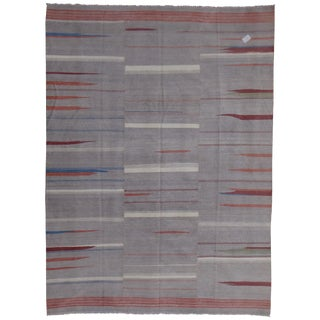 "Hand Knotted Modern Kilim by Aara Rugs Inc. - 9'8"" X 6'11"""