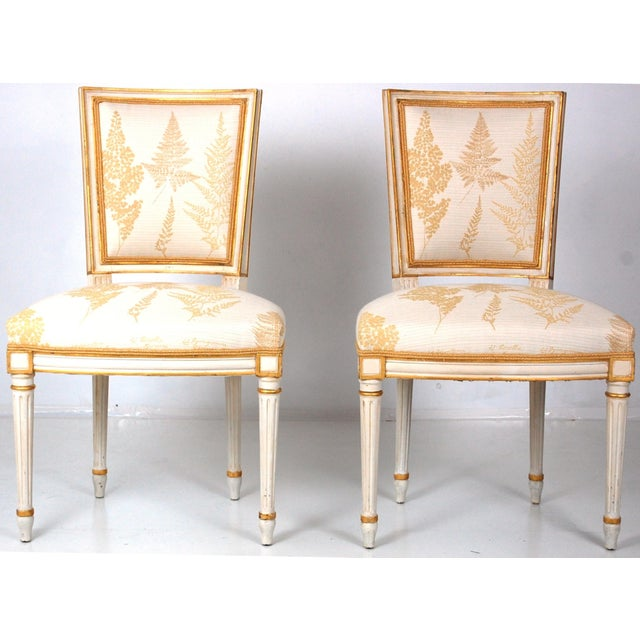 Cream & Gilt Accent Chairs by Baker - A Pair - Image 3 of 11