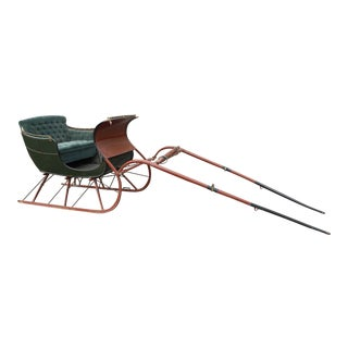 Restored Antique 2 Passenger Santa Sleigh