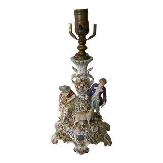 Sitzendorf Porcelain Figural Candlestick