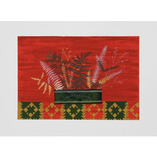 """Mary Faulconer, """"Fall Ferns,"""" Lithograph"""