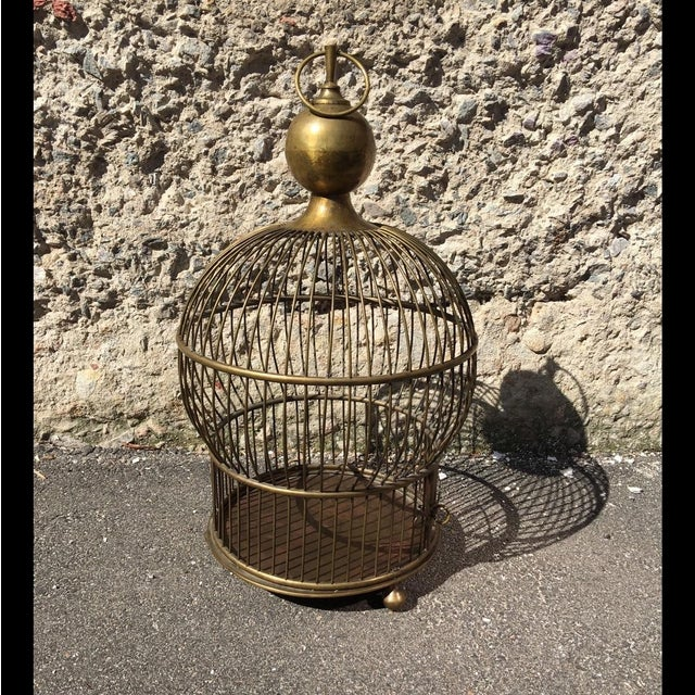 1940's Large Brass Bird Cage - Image 2 of 5
