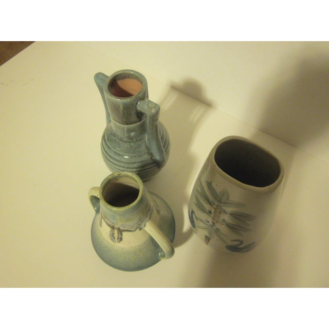 Vintage Aqua Colored Vases - Set of 3 - Image 10 of 11